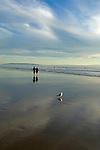 Couple strolling on the beach in Santa Monica