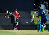 Trent Boult bowls during the One Day International cricket match between NZ Black Caps and Sri Lanka at Mount Maunganui, New Zealand on Saturday, 5 January 2019. Photo: Dave Lintott / lintottphoto.co.nz