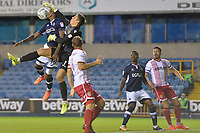 Stevenage Keeper Joe Fryers and Millwalls Tom Elliot during Millwall vs Stevenage, Caraboa Cup Football at The Den on 8th August 2017