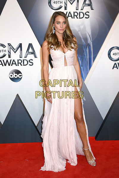 4 November 2015 - Nashville, Tennessee - Hannah Davis. 49th CMA Awards, Country Music's Biggest Night, held at Bridgestone Arena. <br /> CAP/ADM/LF<br /> &copy;LF/ADM/Capital Pictures