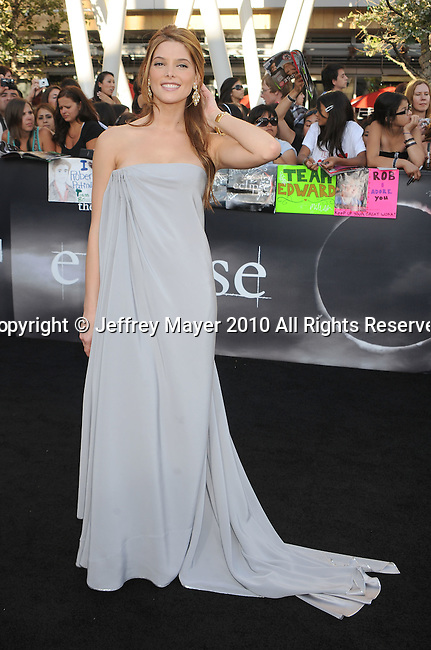 "LOS ANGELES, CA. - June 24: Ashley Greene arrives to the premiere of ""The Twilight Saga: Eclipse"" during the 2010 Los Angeles Film Festival at Nokia Theatre L.A. Live on June 24, 2010 in Los Angeles, California."
