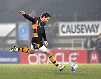 Rugby. High Wycombe, England. Nick Robinson of London Wasps in action during the Amlin Challenge Cup match between London Wasps vs Bayonne at Adams Park on December 13, 2012 in High Wycombe, England.