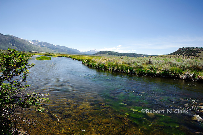 Hot Creek in the California High Sierra