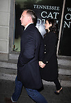 Daniel Craig & Rachel Weisz avoiding the press & photographers while attending the Broadway Opening Night Performance of 'Cat On A Hot Tin Roof' at the Richard Rodgers Theatre in New York City on 1/17/2013