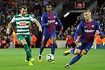 League Santander 2017/2018. Game: 05.<br /> FC Barcelona vs SD Eibar: 6-1.<br /> Sergi Enrich, Semedo &amp; Gerard Deulofeu.