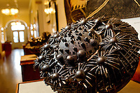 """Harmony of the Spheres""  created by artist Hanna Jubran is one of the piece of work on display at historic Cabarrus courthouse. The Arts Council curates five galleries on the first floor of the 1876 historic Cabarrus courthouse.  The Galleries display works by regional and national artists working in a variety of media. Photo is part of a photographic series of images featuring Concord, NC, by Charlotte-based photographer Patrick Schneider.."