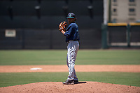 Seattle Mariners relief pitcher Erik Espinal (76) prepares to deliver a pitch during an Extended Spring Training game against the San Francisco Giants Orange at the San Francisco Giants Training Complex on May 28, 2018 in Scottsdale, Arizona. (Zachary Lucy/Four Seam Images)