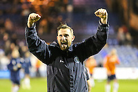 Paul Hayes of Wycombe Wanderers celebrates vctory against Luton Town after the Sky Bet League 2 match between Luton Town and Wycombe Wanderers at Kenilworth Road, Luton, England on 26 December 2015. Photo by David Horn.