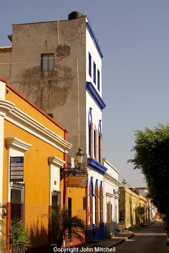 Restored nineteenth century buildings in old Mazatlan, Sinaloa, Mexico