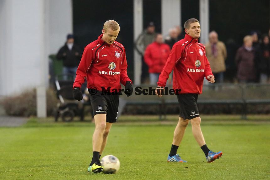 Sebastian Rode und Sebastian Jung (Eintracht)