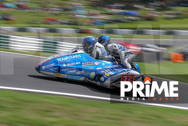 Founds / Walmesley competing in the Hyundai Construction Equipment British Sidecar Championship 600 Cup during the Bennetts British Superbike Championship Round BSB Round 8 (Saturday) at Cadwell Park Circuit, Louth, England on 18 August 2018. Photo by David Horn.