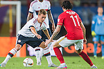(L) Joshua Kimmich of Bayern Munich  being followed by (R) Ricardo Goulart of Guangzhou Evergrande during the Bayern Munich vs Guangzhou Evergrande as part of the Bayern Munich Asian Tour 2015  at the Tianhe Sport Centre on 23 July 2015 in Guangzhou, China. Photo by Aitor Alcalde / Power Sport Images