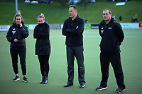 Hockey NZ staff brave the cold after the men's National Hockey League final between Harbour and Capital at National Hockey Stadium in Wellington, New Zealand on Sunday, 23 September 2018. Photo: Dave Lintott / lintottphoto.co.nz