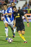 Atletico de Madrid's Yannick Ferreira Carrasco and Club Deportivo Leganes's Unai Bustinza during the match of La Liga between Club Deportivo Leganes and Atletico de Madrid at Butarque Estadium in Leganes. August 27, 2016. (ALTERPHOTOS/Rodrigo Jimenez)