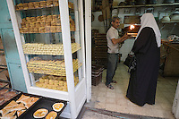 Asie/Israël/Judée/Jérusalem: Vieille ville -chez un boulanger du quartier musulman