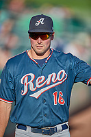 Travis Snider (16) of the Reno Aces before the game against the Salt Lake Bees at Smith's Ballpark on June 26, 2019 in Salt Lake City, Utah. The Aces defeated the Bees 6-4. (Stephen Smith/Four Seam Images)