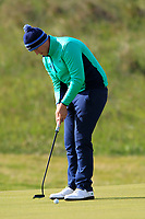 Colm Campbell (Warrenpoint) on the 4th green during Round 1 of the The Amateur Championship 2019 at The Island Golf Club, Co. Dublin on Monday 17th June 2019.<br /> Picture:  Thos Caffrey / Golffile<br /> <br /> All photo usage must carry mandatory copyright credit (© Golffile | Thos Caffrey)
