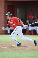 Rutgers University Scarlet Knights infielder Pat Sweeney (11) during a game against the University of Cincinnati Bearcats at Bainton Field on April 19, 2014 in Piscataway, New Jersey. Rutgers defeated Cincinnati 4-1.  (Tomasso DeRosa/ Four Seam Images)
