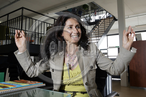 DORDRECHT - NETHERLANDS - 06 APRIL 2005 -- Azam GHORASHI, a Persian business woman who is running her own Office-Furniture business for the 10th year in Dordrecht / the Netherlands. She has won the Black Business Woman of the Year Award, handed out by the European Federation of Black Woman Business Owners, (EFBWBO).-- PHOTO:  EUP-IMAGES / JUHA ROININEN
