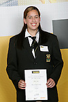 Girls Netball winner Amy Latu. ASB College Sport Young Sportperson of the Year Awards 2007 held at Eden Park on November 15th, 2007.
