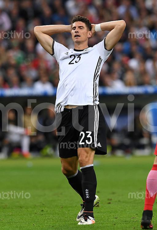 FUSSBALL EURO 2016 GRUPPE C IN PARIS Deutschland - Polen    16.06.2016 Mario Gomez (Deutschland)