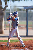 Jesse Rice (45), from Caldwell, Idaho, while playing for the Indians during the Under Armour Baseball Factory Recruiting Classic at Red Mountain Baseball Complex on December 29, 2017 in Mesa, Arizona. (Zachary Lucy/Four Seam Images)