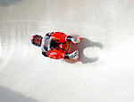 6 February 2009: Nina Reithmayer from Austria slides through a curve in the Women's Competition finishing in 9th place for the event with a combined time of 1:28.938 at the 41st FIL Luge World Championships, in Lake Placid, New York, USA. .  .Mandatory Photo Credit: Ed Wolfstein Photo