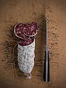 14/01/15 - ORLEAT - PUY DE DOME - FRANCE - Mise en scene studio de saucisson d Auvergne - Photo Jerome CHABANNE