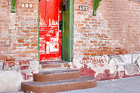 House door in disrepair. Tucson. Arizona