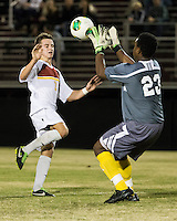 The Winthrop University Eagles beat the UNC Asheville Bulldogs 4-0 to clinch a spot in the Big South Championship tournament.  Zak Davis (23), Cody Winter (2)