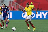 WINNIPEG, MANITOBA, CANADA - June 16, 2015: The Women's World Cup, Ecuador vs Japan match at the Winnipeg Stadium. Final score; Japan 1, Ecuador 0.