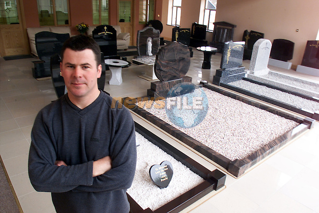 Tony Caffrey pictured at Caffrey's monumental works..Picture: Arthur Carron/Newsfile