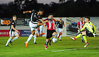 Lincoln City's Matt Green scores his sides first goal<br /> <br /> Photographer Chris Vaughan/CameraSport<br /> <br /> The EFL Sky Bet League Two Play Off Second Leg - Exeter City v Lincoln City - Thursday 17th May 2018 - St James Park - Exeter<br /> <br /> World Copyright &copy; 2018 CameraSport. All rights reserved. 43 Linden Ave. Countesthorpe. Leicester. England. LE8 5PG - Tel: +44 (0) 116 277 4147 - admin@camerasport.com - www.camerasport.com