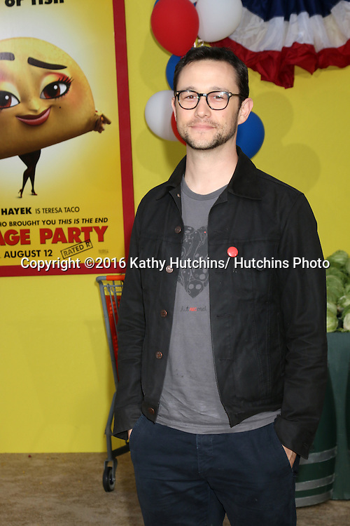 """LOS ANGELES - AUG 9:  Joseph Gordon-Levitt at the """"Sausage Party"""" Premiere at the Village Theater on August 9, 2016 in Westwood, CA"""