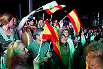 Spanish far-right VOX supporters  during the election night rally in Madrid after Spain held general elections on April 28, 2019 in Madrid, Spain(ALTERPHOTOS/Alconada).
