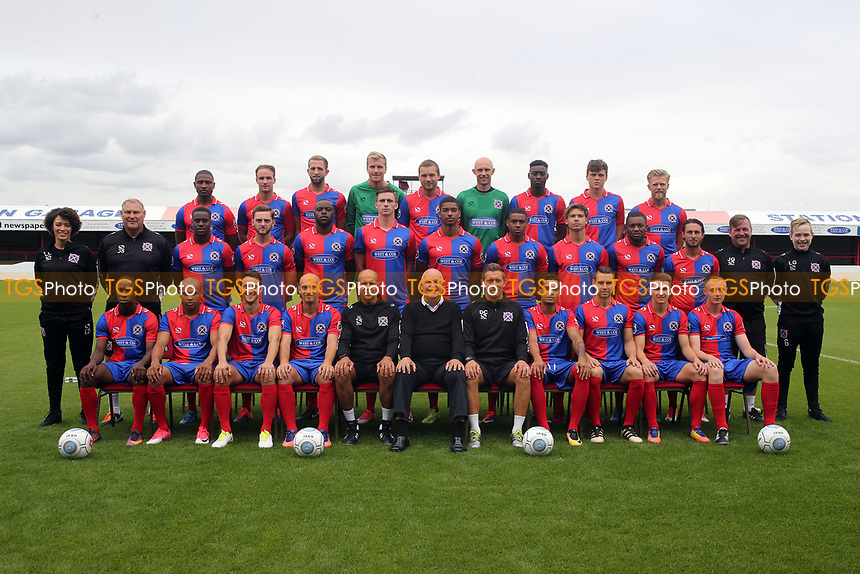 2017/18 Team photo during the Dagenham & Redbridge FC Press Day at the Chigwell Construction Stadium on 29th July 2017