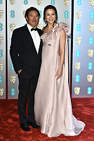 Jimmy Chin and Elizabeth Chai Vasarhelyi<br /> The EE British Academy Film Awards 2019 held at The Royal Albert Hall, London, England, UK on February 10, 2019.<br /> CAP/PL<br /> ©Phil Loftus/Capital Pictures