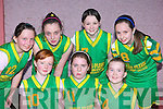 The Gneeveguilla team that particpated in the Martha Boyle basketball blitz in Currow Community Centre on Sunday front row l-r: Niamh Brosnan, Christine McAulliffe, Aobhinn Dobbins. Back row: Margaret Harasienska, Shauna Brosnan, Christina O'Riordan and Aisling McGillicuddy   Copyright Kerry's Eye 2008