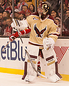 Joe Woll (BC - 31) - The Boston University Terriers defeated the Boston College Eagles 3-1 in their opening Beanpot game on Monday, February 6, 2017, at TD Garden in Boston, Massachusetts.