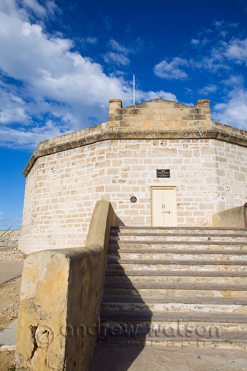 The Round House at Arthur Head.  The building is the oldest public building in WA, dating back to 1831 when it was built as a prison.  Fremantle, Western Australia, AUSTRALIA.
