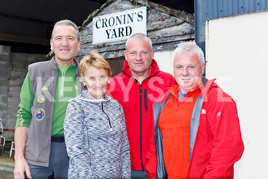 Vincent Brennan, Betty Brennan, Andy Lynch and Frank McMahon at Cronins Yard for the Eileen Cronin memorial climb of Carrauntoohil on Monday