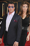 "HOLLYWOOD, CA. - April 26: Sylvester Stallone and Jennifer Flavin arrive at the ""Iron Man 2"" World Premiere held at the El Capitan Theatre on April 26, 2010 in Hollywood, California."