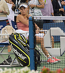 Caroline Wozniacki (DEN) loses to Serena Williams (USA) 6-3, 6-3  at the US Open being played at USTA Billie Jean King National Tennis Center in Flushing, NY on September 7, 2014