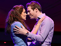 Katharine McPhee as Jenna and David Hunter as Dr Pomatter in Jessie Nelson's Waitress directed by Diane Paulus at The Adelphi Theatre,  The Strand, London on February 7th 2019<br /> CAP/ROS<br /> &copy;ROS/Capital Pictures