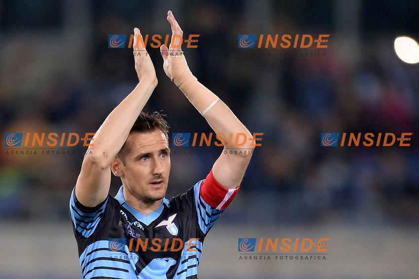 Miroslav Klose Lazio<br /> Roma 15-05-2016  Stadio Olimpico<br /> Campionato Serie A,<br /> Lazio - Fiorentina<br /> Foto Antonietta Baldassarre / Insidefoto
