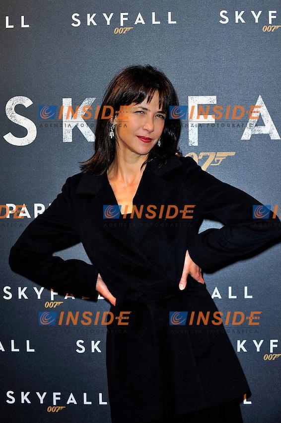 Sophie Marceau.Parigi 24/10/2012 Cinema cinema UGC Normandie.Anteprima del film Skyfall.Foto Gerard Roussel / Panoramic / Insidefoto.ITALY ONLY
