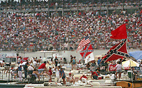 Rce fans at the Southern 500 at Darlington Raceway in Darlington, SC in September 1988. (Photo by Brian Cleary/www.bcpix.com)