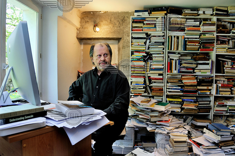 Pierre-Andre Taguieff, philiospher and writer, specialist on racism, anti-semitism and the extreme right, at his home in