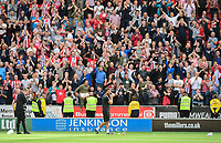 Lincoln City manager Danny Cowley applauds the fans at the final whistle<br /> <br /> Photographer Chris Vaughan/CameraSport<br /> <br /> The EFL Sky Bet Championship - Rotherham United v Lincoln City - Saturday 10th August 2019 - New York Stadium - Rotherham<br /> <br /> World Copyright © 2019 CameraSport. All rights reserved. 43 Linden Ave. Countesthorpe. Leicester. England. LE8 5PG - Tel: +44 (0) 116 277 4147 - admin@camerasport.com - www.camerasport.com