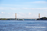 65095-02311 Barge on Mississippi River and Bill Emerson Memorial Bridge Cape Girardeau, MO